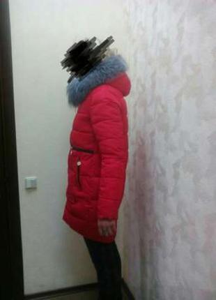 Красивая, яркая,модная куртка-пуховик