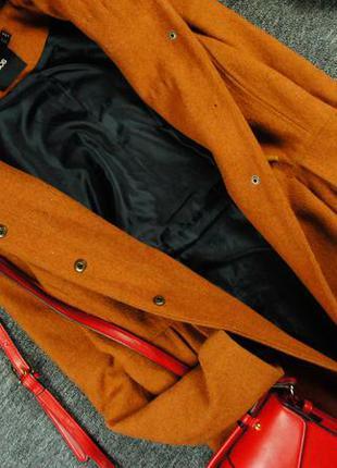 Asos теплое длинное пальто-дафл с мехом!3