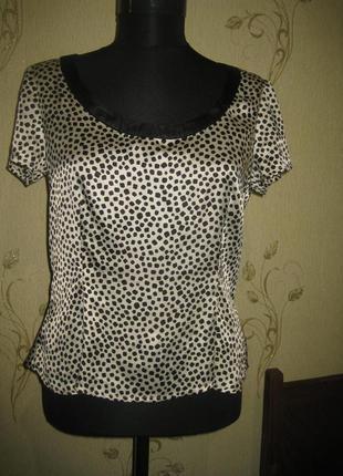 Красивая атласная блуза bandolera