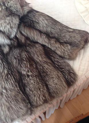 Шуба из чернобурой лисы