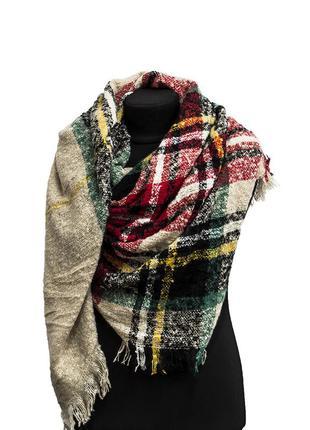 Огромный шарф плед теплющий и очень нежный и приятный на ощупь