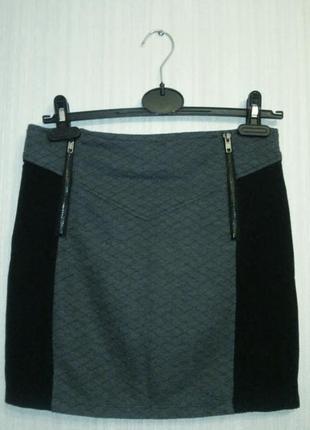 Прямая коротка юбка со змейками tally weijl