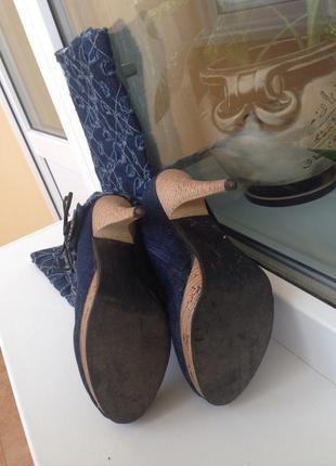 Продам сапоги-ботильоны джинсовые