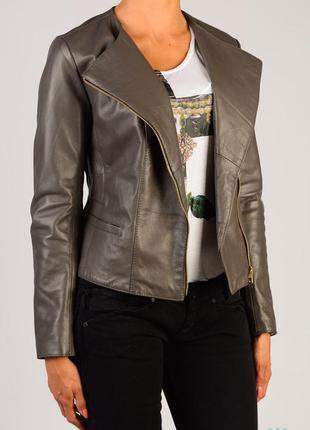 Новая кожаная куртка женская, италия