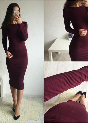 Платье миди по фигуре плотное супер качества!