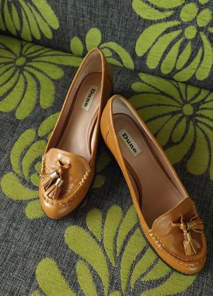 Туфли лофери бренду dune 24 см стєлька