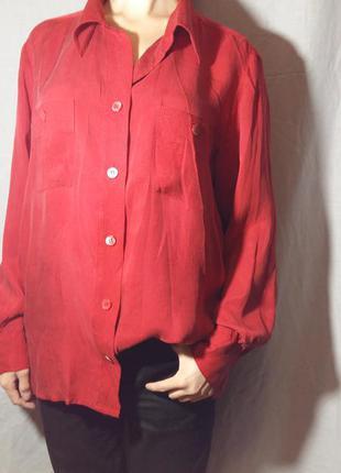 Изысканная и благородная красная блузка country casuals из 100% cupro