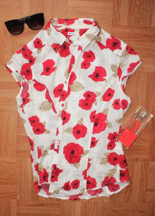 Блузка с цветами маки ben sherman