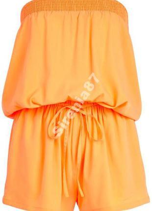 №31 стильный оранжевый комбинезон ромпер