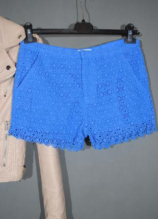 Голубые кружевные шорты marks & spencer размер s