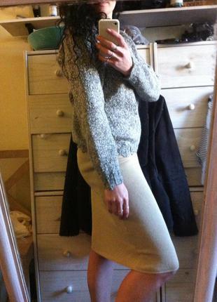 Шестяной свитер меланж 50 % лама m-l