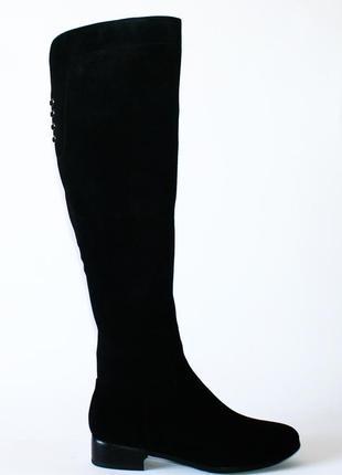 Высокие зимние сапоги ботфорты respect натуральная замша цигейка 35-39р
