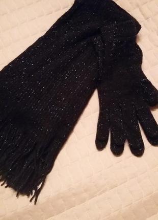 Супер набір шарф і перчатки