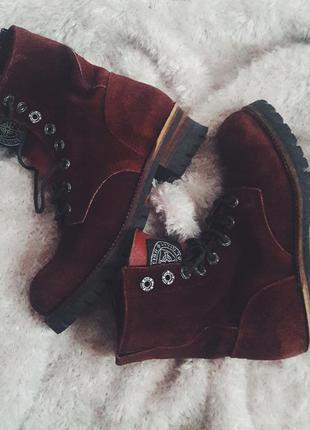 Коллекционные кожаные ботинки