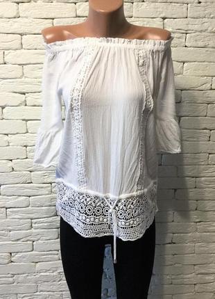 """Блуза из вискозы с """"шитьём"""""""