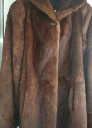 Норковая шуба полушубок из полевой норки | дикая норка сурок2