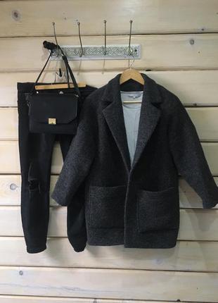 Стильное шерстяное пальто oversize👍🏻