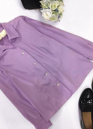 Лиловая котоновая рубашка sale!!!