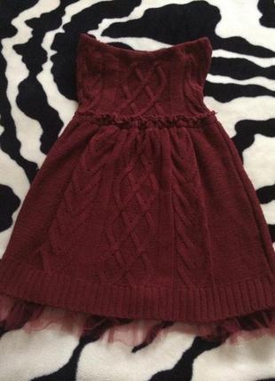 Экстравагантное платье-бюстье stradivarius