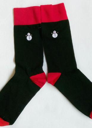 """Хлопковые носочки со снеговичками от """"f&f"""", новые. шикарное качество! плотные!"""