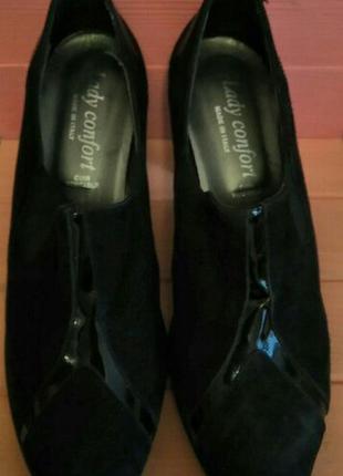 Новые итальянские замшевые туфли