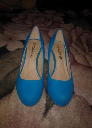 Голубые туфли 38 размер follow me
