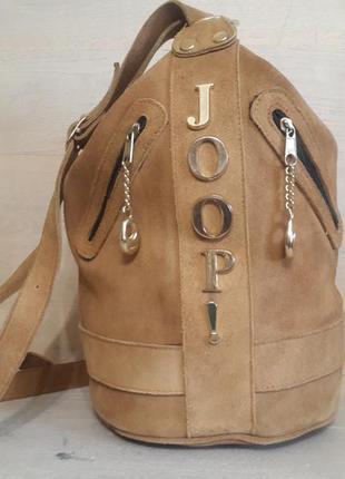 Сумка -рюкзак joop! 100% замша.