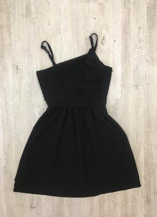 Вечернее нарядное черное платье