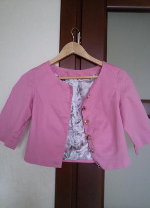 Нежный розовый пиджачек