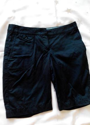 Новорічний розпродаж!!! шорти чорні до колін стильні з кишенями mango