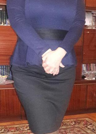 Костюм (юбка, блузка с баской)