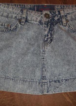 Джинсовая   брендовая  юбка р8 турция