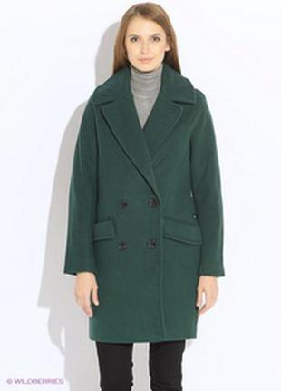 Изумрудное бойфренд пальто c&a оверсайз стильное модное хит шерстяное
