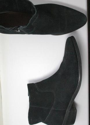 Стильные замшевые сапоги ботинки полусапожки известного бренда esprit