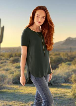 Блуза-футболка шелк наш 42/44 tcm tchibo германия