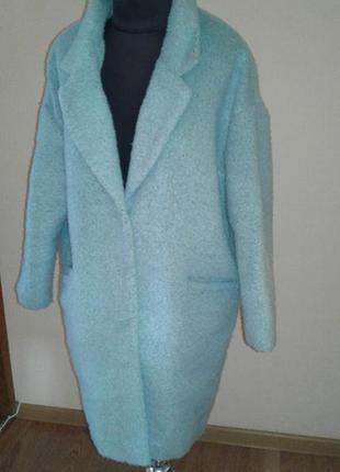 Мятное теплое пальто бойфренд atmosphere