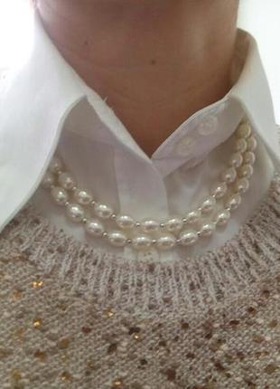 Ожерелье двойное жемчужное. новое а наличии
