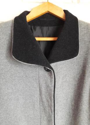 Пальто в стиле бойфренд оверсайз новое 80% шерсть