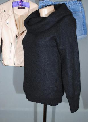 Пушистый свитер с воротником-хомутом h&m размер s/m