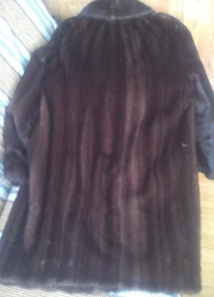 Шуба норковая в груди 105-110 длина 905