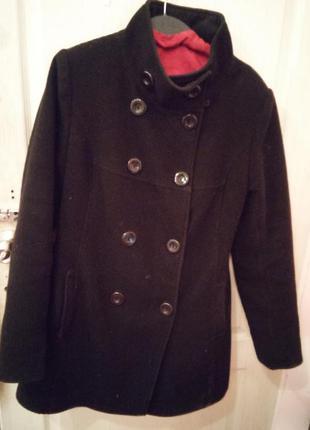 Двубортное черное пальто-шинель.  зимнее шерстяное  пальто oversize  скидки смотрите все объявления!