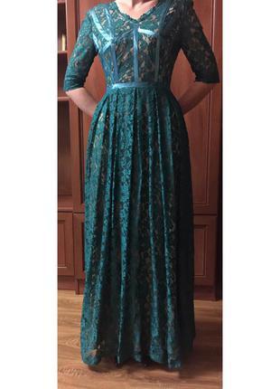 Платье, кружевное платье от андре тан, вечернее платье, длинные платья