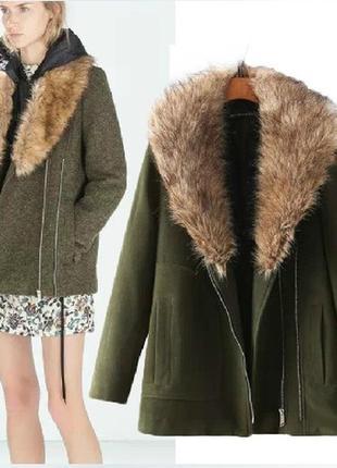 Крутое бойфренд-пальто zara - размер с