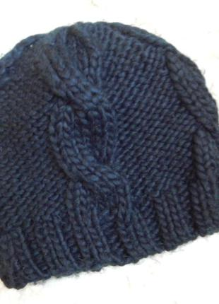 Next черная шапка вязаная 100% акрил
