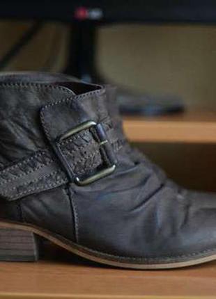 Винтажные ботинки next 38р. (натуральная кожа)