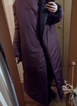 Пуховик-ковдра (пуховик-одеяло ) марсала4