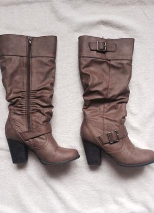 Осенние сапоги на каблуке new look