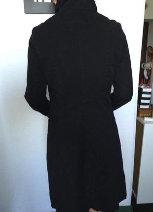 Пальто чёрное h&m