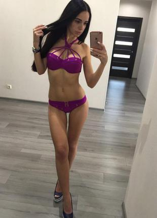 Раздельный купальник agent provocateur фиолетовый