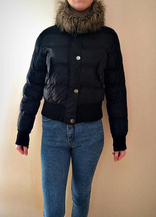 Куртка зимняя стеганка с капюшоном